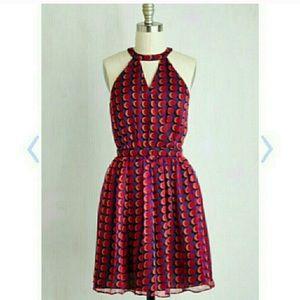 Modcloth A-line Magenta Party Dress